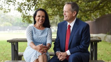 Linda Burney, pictured with Bill Shorten, has moved out of the shadow cabinet to contest the seat of Barton at this year's federal election.