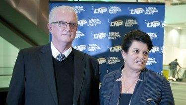 New LNP senator elect Joanna Lindgren with LNP President Bruce McIver.