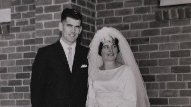 Robin and Barbara Collins on their wedding day.