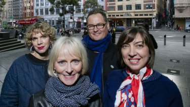 Miles Franklin Award short-listed authors (clockwise from front): Lucy Treloar, Peggy Frew, A.S. Patric, Myfanwy Jones.