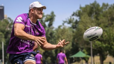 Melbourne Storm back Ryley Jacks is off the tools and chasing an NRL debut.