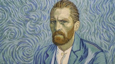 A portait of Vincent van Gogh from the film <i>Loving Vincent</i>.