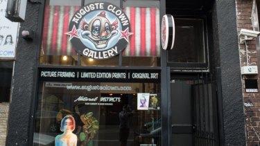 Auguste Clowne Gallery on Johnston Street, Fitzroy, is closing down.