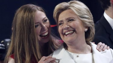 """Hillary Clinton, with her daughter Chelsea, says """"no one gets through life alone""""."""