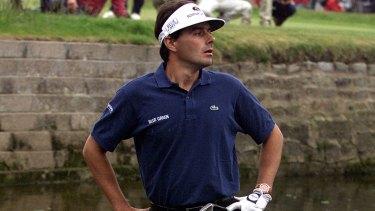 Frenchman Jean Van De Velde in the drink at the 1999 British Open
