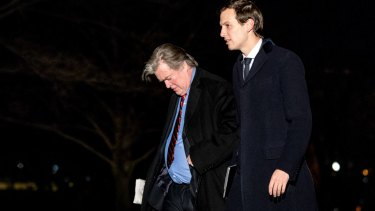 Power struggle: White House senior advisers Jared Kushner and Steve Bannon.