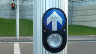 Nielsen Design's pedestrian traffic light button.
