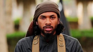 Neil Prakash in a still from an IS propaganda video.