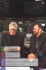Beatle Ringo Starr does a live Q&A at Capitol Records studios via Periscope.