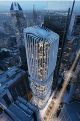 The proposed tower will rise 54 storeys above Collins Street.