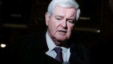 Not so gloomy: Former House speaker Newt Gingrich.