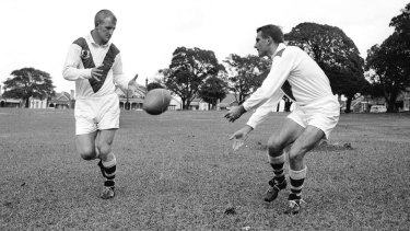 St George stars Reg Gasnier and Johnny Raper in 1961