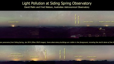 Comparing light in the night sky at AAO's Siding Spring Observatory.