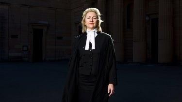 Winning case: Margaret Cunneen outside the Darlinghurst Courthouse in Sydney.