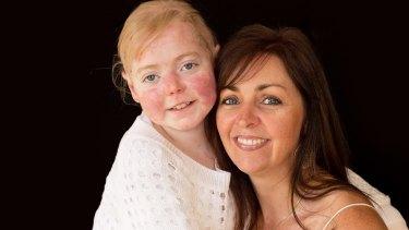 Eliza Baird with mum Simone.