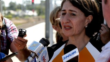 Shocked: Transport Minister Gladys Berejiklian.