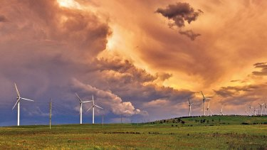 Energy storage can help cope with fluctuations in production from variable renewable sources such as wind farms.