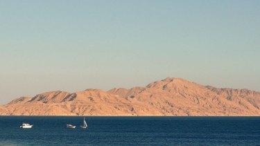 The Strait of Tiran and Tiran Island.