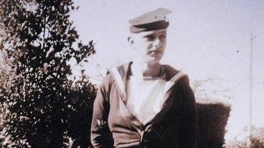Bradley in his naval uniform during the war, circa 1944-45.