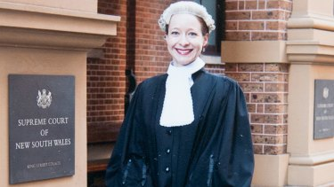 Barrister Sharna Clemmett when she was admitted to the bar.