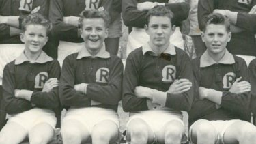 Rosebud High School photo of Colin Matthews, second from left, aged 14, in 1961.