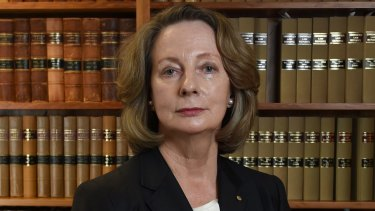 Newly announced High Court Chief Justice Susan Kiefel in her chambers in Brisbane.