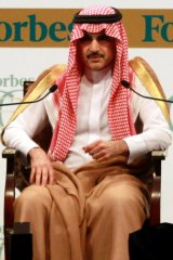 On the sidelines: Saudi billionaire Prince Alwaleed bin Talal.