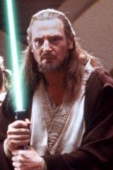 Liam Neeson in <i>Star Wars: The Phantom Menace</i>.