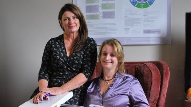 Chemo@home nurse Lorna Rogers with pharmacist Julie Wilkes.