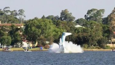 Safety authorites will inspect the plane on Friday, which is still in the Swan River.
