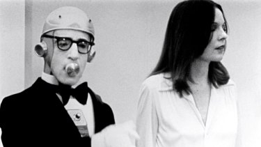 Woody Allen and Diane Keaton in <i>Sleeper</i>.