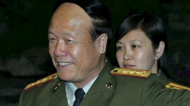 Then Chinese Vice Chairman of the Central Military Commission Guo Boxiong attends a meeting at the Diaoyutai State Guest House in Beijing in 2005.