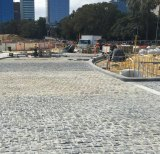 Works continue on Elizabeth Quay.