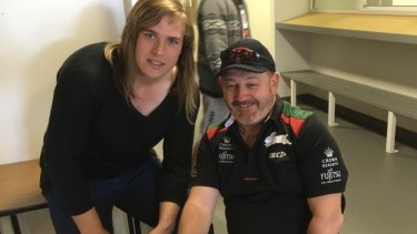 Hannah Mouncey is trying to raise awareness of transgender people in sport.