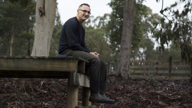 """""""I have new-found respect for farmers; it's hard yakka."""": Di Natale on the jetty he built over his property's dam."""
