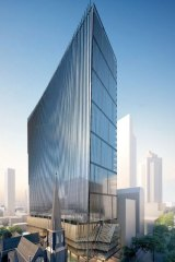 An earlier office tower plan for the Lonsdale Street site put forward by Leighton in 2014.