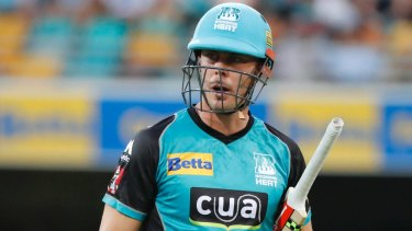 Unlucky: Chris Lynn has been injured and will miss the ODI series against England.