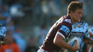 Close to his NRL debut: Manly forward Liam Knight.