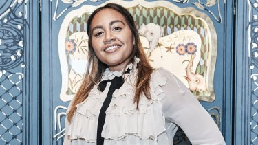 Jessica Mauboy at the Le Marche des Merveilles jewellery collection launch at Gucci, Westfield, on the evening of September 13, 2017.