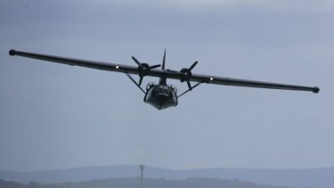 A Catalina plane similar to the one that crashed near Cairns in 1943.