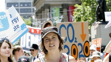 Missy Higgins at a global warming rally in 2007.