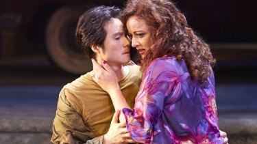 Yonghoon Lee as Don Jose and Clementine Margaine as Carmen in Opera Australia's production of <i>Carmen</i>.