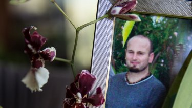 Darren Galea, in a photo alongside an orchid at his father's home, lived a quiet life and had few social connections.