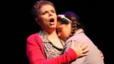 Deborah Cheetham as Ella and Jessica Hitchcock as Alice share their final moments in Pecan Summer.