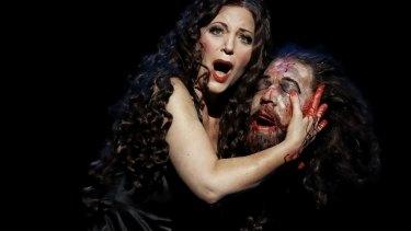 Lise Lindstrom plays the final, shocking scene in Opera Australia's Salome.