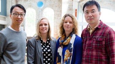 University of Technology, Sydney, Nos.E team (from left): Wentian Zhang, Maiken Ueland, Shari Forbes and Steven Su.