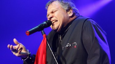 Meat Loaf performing at the Wollongong Entertainment Centre in October 2011.