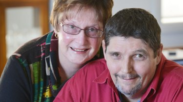 Steve Gribbin, who has hepatitis C and couldn't access new drugs through Medicare, with his wife, Faye.