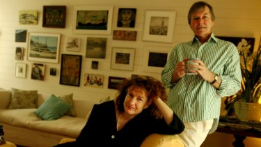 Campbell in 2010, with her late husband Peter Crayford.