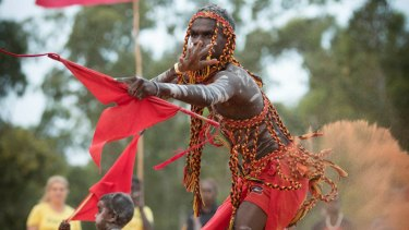 Members of the Yolngu clans dance during the Garma Festival in northeast Arnhem Land.